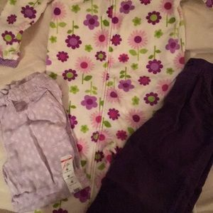 3 pieces girls clothes.